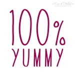Textstempel Simple 100% Yummy