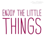 Textstempel Simple Enjoy the little things