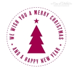 Motivstempel modern We wish you a merry christmas