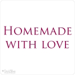 Textstempel Homemade with Love