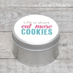 Metalldose Typo Eat more Cookies MIDI