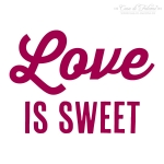 Textstempel Love is sweet