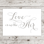 Karte Lasercut Love is in the Air