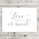 Karte Lasercut Love is sweet