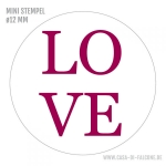 MINI Textstempel LOVE