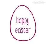 Motivstempel Osterei simple - happy easter