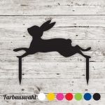 Cupcake topper Hase springend