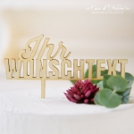 Individueller Cake topper Typo