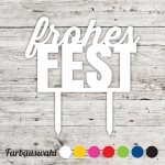 Cake topper Frohes Fest