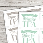 Motivaufkleber Typo - There's always time for tea!