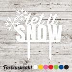 Cake topper let it snow