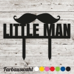 Cake topper Little Man Mustache