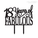 Cake topper 18 Years of Fabulous