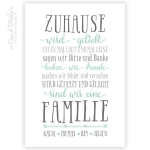 Personalisiertes Poster Zuhause