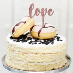 Mini Cake Topper love 6er Set
